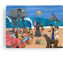 Surf Wars Canvas Print