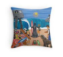 Surf Wars Throw Pillow