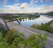 Austin Images - Pennybacker Bridge looking West an hour after sunrise by RobGreebonPhoto