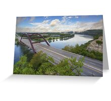 Austin Images - Pennybacker Bridge looking West an hour after sunrise Greeting Card