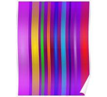 Stripes Art Purple Poster