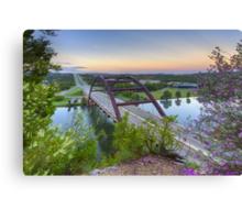 Austin Images - Pennybacker Bridge looking West at Sunrise Canvas Print