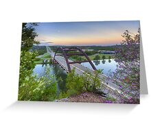 Austin Images - Pennybacker Bridge looking West at Sunrise Greeting Card