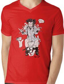 Scissorhands in trouble (plain) Mens V-Neck T-Shirt