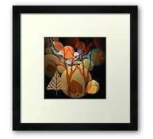 Fractal Abstract Mixed Media art with Leaves and Trees Framed Print