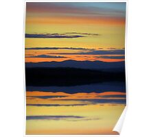 highland sunset Poster