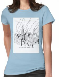 New York Skyscrapers 1955 Womens Fitted T-Shirt