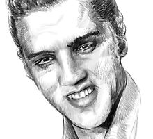 Elvis sketch study by hotanime