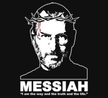 Steve Jobs - MESSIAH - Apple - Computers - White on Black (OLDER) by James Ferguson - Darkinc1
