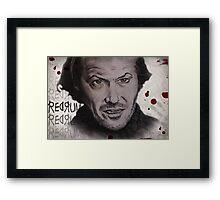 heres johnny Framed Print