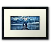 A Little Blue Boatshed Framed Print