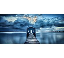 A Little Blue Boatshed Photographic Print