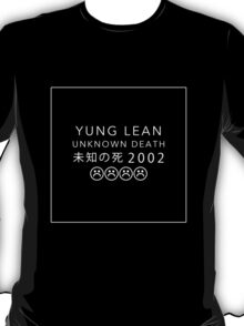 YUNG LEAN UNKNOWN DEATH 2002 (BLACK) T-Shirt