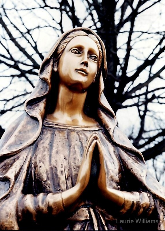 Bronze Mary Statue by Laurie Williams