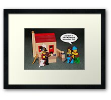Catbeard the Pirate Framed Print