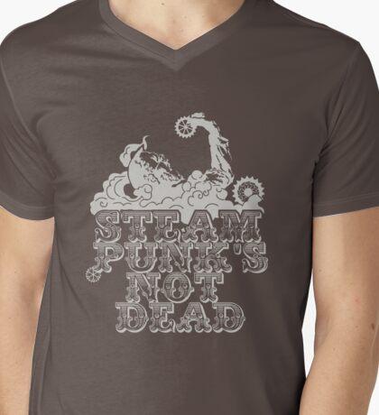 steampunk's not dead (silver) Mens V-Neck T-Shirt