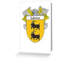 Cabrera Coat of Arms/Family Crest Greeting Card