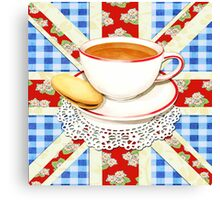 Big Old Blighty Cup of Tea! Canvas Print