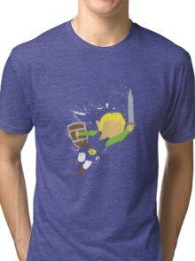 Splattery Link Wind Waker Design Tri-blend T-Shirt