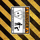 Danger Stay away from my iPhone / iPad - Case by barnsleynut