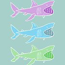 Basking Sharks Cool by nimbusnought