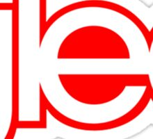 Glee logo red and white Sticker