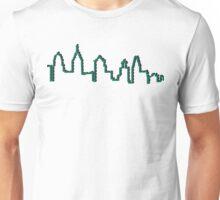 Philadelphia Skyline- Green Unisex T-Shirt