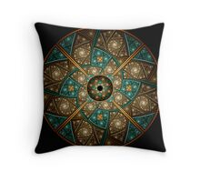 Wheel of Illusions III Throw Pillow