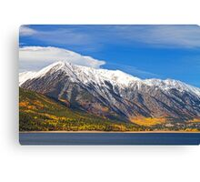 Twin Lakes Autumn Landscape Canvas Print