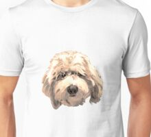 Lucky Labradoodle Face Graphic ~ golden Unisex T-Shirt
