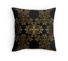 Gold Foil Gasket Throw Pillow