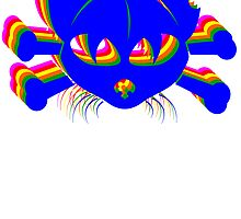 Rainbow Cat And Crossbones by kwg2200