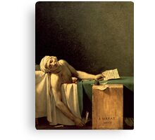 The Death of Marat, 1793 (oil on canvas) Canvas Print