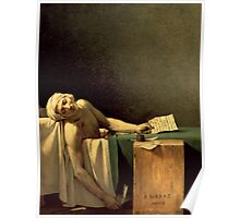 The Death of Marat, 1793 (oil on canvas) Poster