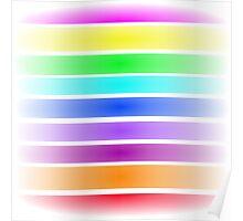 Horizontal Stripes Art Square Poster