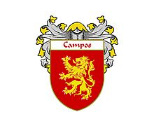 Campos Coat of Arms/Family Crest Photographic Print