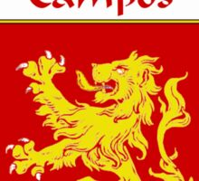 Campos Coat of Arms/Family Crest Sticker