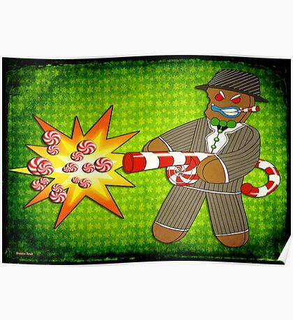 Gingerbread Gangster Poster