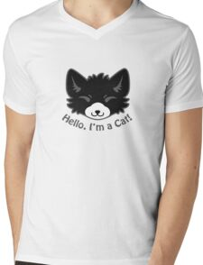 Hello, I'm a Cat! Mens V-Neck T-Shirt