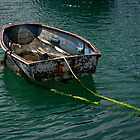 Old Dinghy, Penzance Harbour by Rod Johnson