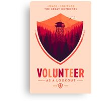 Firewatch Volunteer Canvas Print