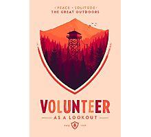 Firewatch Volunteer Photographic Print