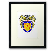 Casas Coat of Arms/Family Crest Framed Print