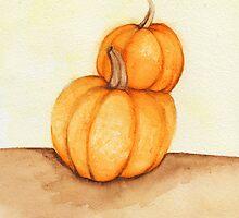 Stacked Fall Pumpkins by Katrina Larock