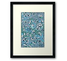 Her Garden in Blue Framed Print