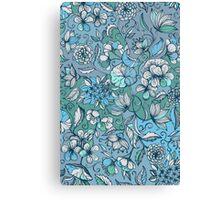 Her Garden in Blue Canvas Print