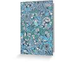 Her Garden in Blue Greeting Card