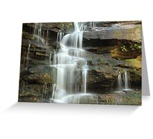 the freezing water at somersby falls Greeting Card