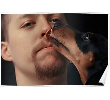 Canine Kiss Poster