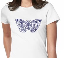 Polyphemus Moth Paper-Cut Womens Fitted T-Shirt